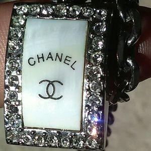 Rare Vintage Chanel CC MOP Pendant Necklace